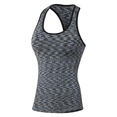 Γυναικεία Αμάνικο μπλουζάκι συμπίεσης Μονόχρωμο Φυσική Κάτάσταση Ρούχα συμπίεσης Αμάνικη Μπλούζα Αμάνικο Ρούχα Γυμναστικής Ικανότητα να αναπνέει Ελαστικό