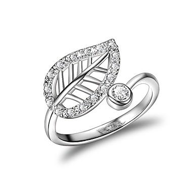 billige Motering-Dame Håndledd Ring Micro Pave Ring Kubisk Zirkonium Sølv Zirkonium Sølvplett Geometrisk Form Klassisk Bryllup Aftenselskap Smykker Blomst Clover