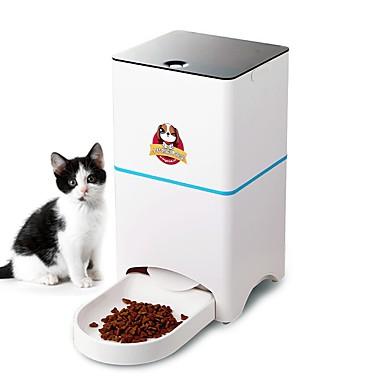 Σκυλιά Γάτες Κατοικίδια Τροφοδότες 5 L Προσαρμόσιμη Smart Αυτόματο Διανομέας τροφής Λευκό Μπολ & Διατροφή
