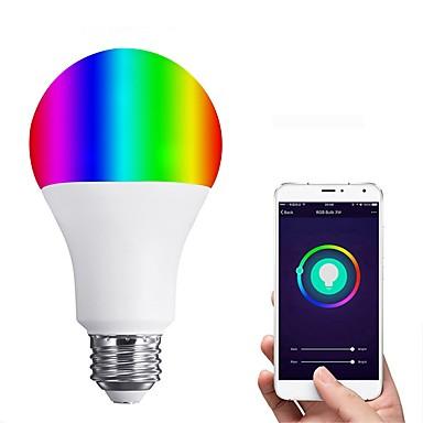 JIAWEN 1pc 6 W LED Έξυπνες Λάμπες 450 lm E26 / E27 12 LED χάντρες SMD 3528 Έλεγχος APP Smart Με ροοστάτη Θερμό Λευκό RGB 110-120 V