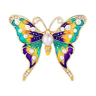 Γυναικεία Καρφίτσες Πεταλούδα Ζώο κυρίες Γλυκός Καρφίτσα Κοσμήματα Ασημί Χρυσαφί Για Καθημερινά Ημερομηνία