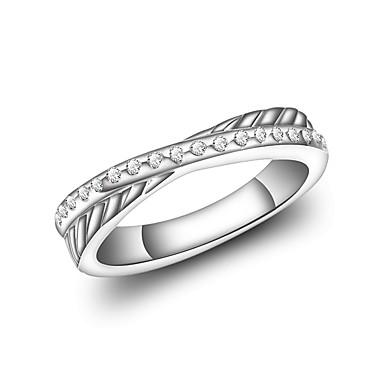 billige Motering-Dame Band Ring Evigheten Ring Kubisk Zirkonium Sølv Zirkonium Sølvplett Sirkelformet Geometrisk Form Vintage Mote Bryllup Aftenselskap Smykker Stjerne