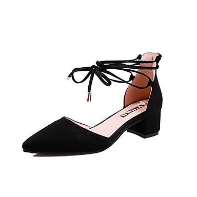 Mujer Zapatos PU Otoño Confort Oxfords Tacón Cuadrado Blanco / Negro / Rosa CwdgurE