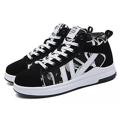 634f3ddfe96 Mujer Zapatos PU Primavera   Otoño Confort Zapatillas de deporte Tacón  Plano Negro   blanco   Negro   Rojo   Anaranjado y Negro 6604206 2018 –   34.99