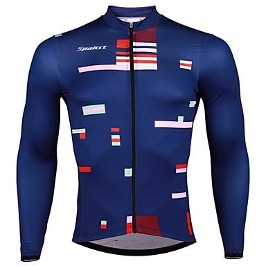 b60090572079 SPAKCT Ανδρικά Μακρυμάνικο Φανέλα ποδηλασίας - Σκούρο μπλε Ριγέ Ποδήλατο Αθλητική  μπλούζα Γρήγορο Στέγνωμα Αθλητισμός Ελαστίνη Polyster Ποδηλασία Βουνού ...