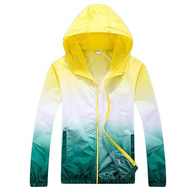 สำหรับผู้ชาย สำหรับผู้หญิง Hiking Windbreaker แจ็คเก็ตไต่เขาผิว Hiking Jacket กลางแจ้ง กันน้ำ กันลม ป้องกันแดด ทน UV ฤดูใบไม้ผลิ ฤดูร้อน Hoodie Sun Protection Clothing Tops / ระบายอากาศ / แห้งเร็ว