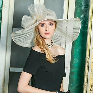 preiswerte Partyhut-Tüll Kentucky Derby-Hut / Hüte mit Schleife(n) 1pc Hochzeit / Party / Abend Kopfschmuck