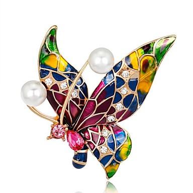 Γυναικεία Καρφίτσες Πεταλούδα Ουράνιο Τόξο κυρίες Βίντατζ Καρφίτσα Κοσμήματα Κόκκινο,Μπλε,Βυσσινί Για Πάρτι Καθημερινά