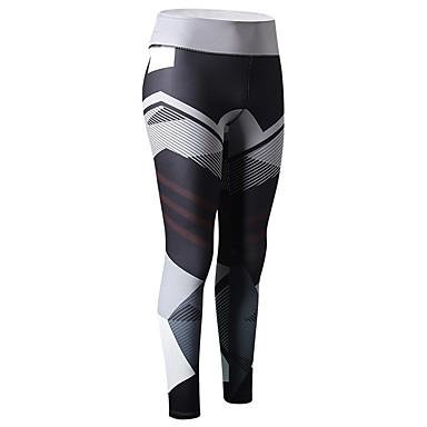 Γυναικεία Leggings de Alergat Παντελόνι συμπίεσης Αθλητισμός Παντελόνια Ρούχα συμπίεσης Κολάν Φυσική Κάτάσταση Ικανότητα να αναπνέει Στάμπα Άλλα Μαύρο Μπλε Γκρίζο Ροδοκόκκινο / Ελαστικό