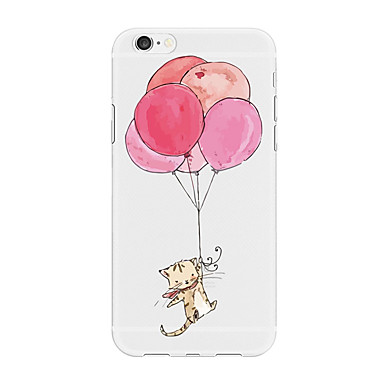 Etui Til Apple iPhone X / iPhone 8 Plus / iPhone 8 Mønster Bakdeksel Dyr / Tegneserie / Ballong Myk TPU