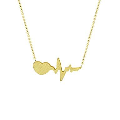 povoljno Modne ogrlice-Žene Ogrlice s privjeskom Otkucaji srca otkucaj srca dame Moda Legura Zlato Pink Ogrlice Jewelry Za Zabava / večer Dnevno