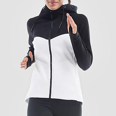 Γυναικεία Patchwork Jachetă de Alergat Βαμβάκι Γιόγκα Fitness Γυμναστήριο προπόνηση Σακάκι Μακρυμάνικο Ρούχα Γυμναστικής Γρήγορο Στέγνωμα