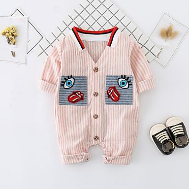 povoljno Odjeća za bebe-Dijete Djevojčice Jednostavan / Aktivan Dnevno Print Klasičan / Sa stilom Rukava do lakta Pamuk Kombinezon Blushing Pink