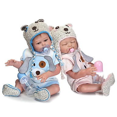 NPKCOLLECTION NPK DOLL Κούκλες σαν αληθινές Κορίτσι κορίτσι Μωρά Κορίτσια 20 inch Σιλικόνη πλήρους σώματος Σιλικόνη - Νεογέννητος όμοιος με ζωντανό Χαριτωμένο Ασφαλής για παιδιά Non Toxic
