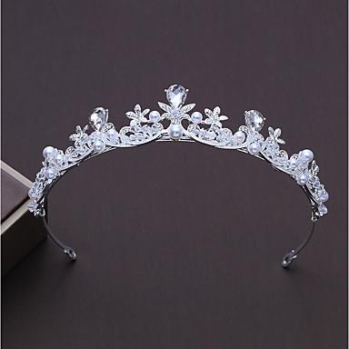 Κράμα Τιάρες με Τεχνητό διαμάντι / Ψεύτικο Μαργαριτάρι 1pc Γάμου / Πάρτι / Βράδυ Headpiece
