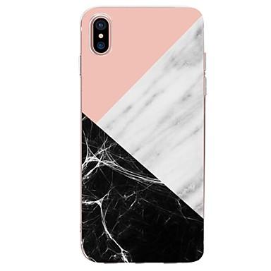 povoljno Apple oprema-Θήκη Za Apple iPhone X / iPhone 8 Plus / iPhone 8 Ultra tanko / Uzorak Stražnja maska Geometrijski uzorak / Mramor Mekano TPU