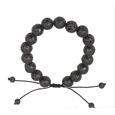levne Dámské šperky-Pánské Dámské Sopečný kámen Řetězové & Ploché Náramky Jednoduchý příroda Módní Kabel Náramek šperky Černá Pro Dar Denní