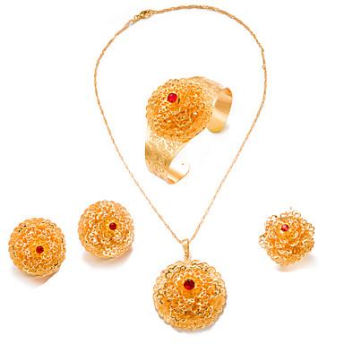 Γυναικεία Σετ Κοσμημάτων Μοντέρνο κυρίες Μοντέρνα Επιχρυσωμένο Σκουλαρίκια Κοσμήματα Χρυσό Για Γάμου Πάρτι