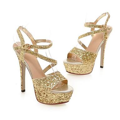 Mujer Zapatos PU Primavera verano Pump Básico Sandalias Tacón Stiletto Negro sjasSr