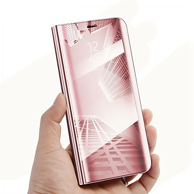 45931c64b07 Funda Para Samsung Galaxy J7 Prime / J5 Prime con Soporte / Espejo / Flip  Funda de Cuerpo Entero Un Color Dura Cuero de PU para J7 Prime / J7 Max / J7  ...