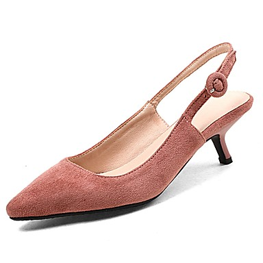 8a30c3e23cb66 Women's Shoes Leatherette Spring / Fall Comfort Heels Stiletto Heel Pointed  Toe Buckle Black / Beige / Pink / Party & Evening 6572252 2019 – $39.99