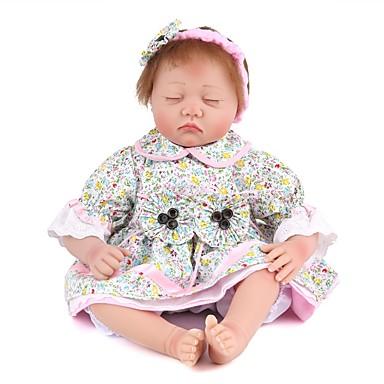 22inch Reborn Doll Silicone African American Baby Doll Black Skin Tone