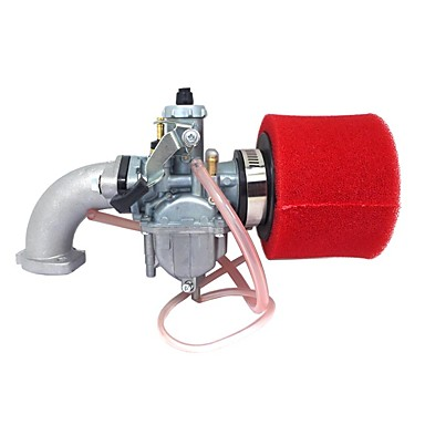 billige Bildeler-rød mikuni pz26 carb manifold oljetetning luftfilter for lifan 125cc smuss pit sykkel atv vm2226mm