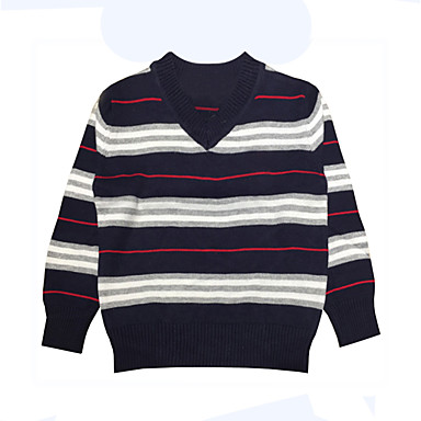 Toddler Boys Simple Daily Holiday Striped Stripe Long Sleeve