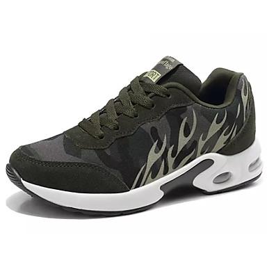 Mujer Zapatos Malla respirante Primavera / Otoño Confort Zapatillas de Atletismo Paseo Tacón Plano Dedo redondo Gris / Verde Ejército / ki2m9g8