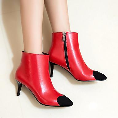 Mujer Zapatos Cuero de Napa Primavera / Otoño Confort Tacones Tacón Cuña Negro / Rojo Prix Pas Cher Frais De Port Offerts Acheter En Vente En Ligne BIlkIxE1hD