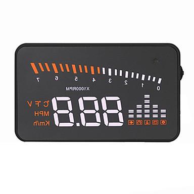 voordelige Automatisch Electronica-VX5 Head Up Display Alarm Alarm bij hoge temperatuur Laag voltage alarm Snelheidswaarschuwing Plug & play voor Truck Bus Automatisch
