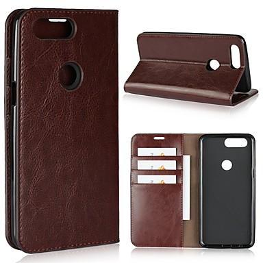 tok Για OnePlus One Plus 5 / OnePlus 5Τ / One Plus 3 Πορτοφόλι / Θήκη καρτών / Ανθεκτική σε πτώσεις Πλήρης Θήκη Μονόχρωμο Σκληρή γνήσιο δέρμα