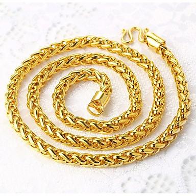 levne Pánské šperky-Pánské Řetízky Bahtův řetěz franko řetěz Námořní řetěz Rokové Dubaj Pozlacené Kov Zlatá Náhrdelníky Šperky Pro Street Klub