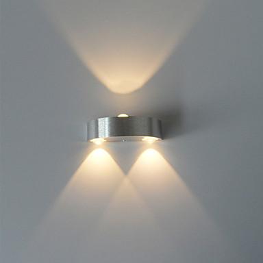 μοντέρνα 3w οδήγησε τοίχο εσωτερική διάδρομο προς τα κάτω προς τα κάτω ελαφρύ αλουμίνιο διακοσμητικό φωτισμό