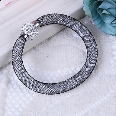 Γυναικεία Συνθετικό Diamond Βραχιόλια κυρίες Βασικό Ρητίνη Βραχιόλι Κοσμήματα Γκρίζο / Κόκκινο / Ανοικτό Καφέ Για Δώρο Καθημερινά / Προσομειωμένο διαμάντι