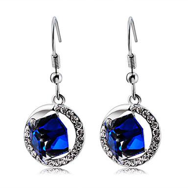 Žene Plav Kristal Viseće naušnice Klasičan Romantični Moderna Elegantno Imitacija dijamanta Naušnice Jewelry Pink Za Večer stranka Formalan 2pcs