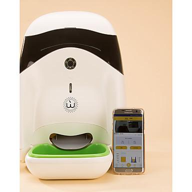 preiswerte Bekleidung & Accessoires für Hunde-Haustiere Futter- & Trink-Vorrichtungen 3.5 L Kunststoff Zweiweg-Modus Nachtsicht Automatisch Futterspender Einfarbig Weiß Schüsseln & Füttern