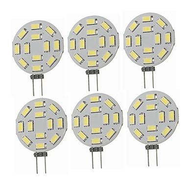 SENCART 6pcs 1.5 W LED Φώτα με 2 pin 360 lm G4 T 12 LED χάντρες SMD 5730 Διακοσμητικό Θερμό Λευκό Ψυχρό Λευκό 12-24 V