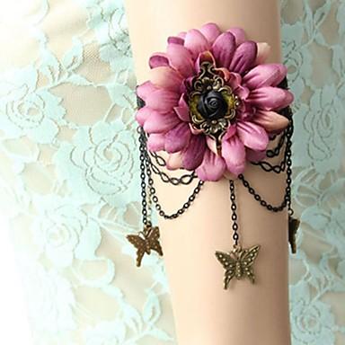 levne Dámské šperky-Dámské Tělové ozdoby 26 cm Arm Chain Stříbrná / černá dámy / Vintage / Sladký Látka / Slitina Kostýmní šperky Pro Formální / Jdeme ven Letní