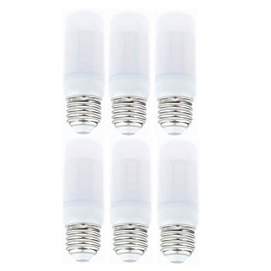 SENCART 6pcs 4 W LED-kornpærer 800-950 lm E14 G9 B22 T 36 LED perler SMD 5730 Dekorativ Varm hvit Hvit 85-265 V 12 V