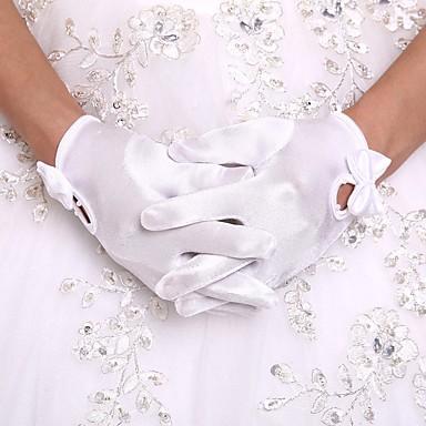 Orlon Μέχρι τον καρπό Γάντι Γάντια για Κοριτσάκι Λουλουδιών Με Ψεύτικο Μαργαριτάρι / Βολάν
