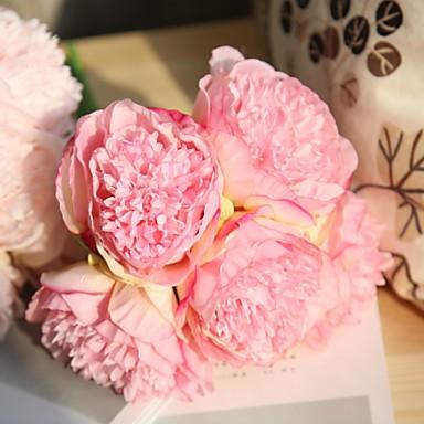 Ψεύτικα λουλούδια 5 Κλαδί Γάμος Λουλούδια Γάμου Παιώνιες Λουλούδι για Τραπέζι