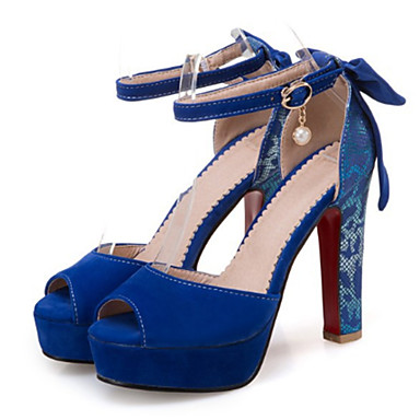 Mujer Zapatos Ante Verano Confort Sandalias Tacón Cuadrado Puntera abierta Pajarita Rojo / Azul / Almendra 100% D'origine Prix Pas Cher Réduction Finishline Trouver Une Grande Ligne Pas Cher K3bCOaZ2