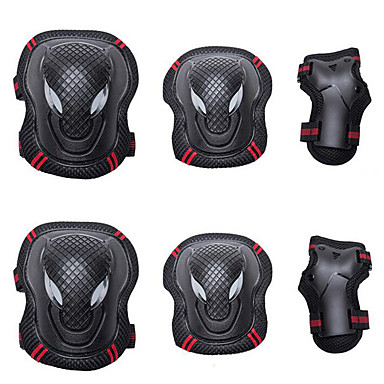cheap Scooters, Skateboarding & Rollers-Knee Pads + Elbow Pads + Wrist Pads for Inline Skates / Hoverboard / Roller Skates Breathable / Protective 6 pack