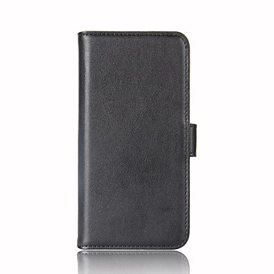 on sale 20ac7 9b989 [$12.99] Case For OnePlus OnePlus 6 / OnePlus 5T Wallet / Card Holder /  with Stand Full Body Cases Solid Colored Hard Genuine Leather for OnePlus 6  / ...