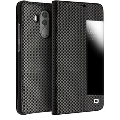 best sneakers e3148 f3f4f [$44.99] Case For Huawei Mate 10 pro / Mate 10 lite Shockproof / with  Windows / Flip Full Body Cases Solid Color Hard Genuine Leather for Mate 10  pro