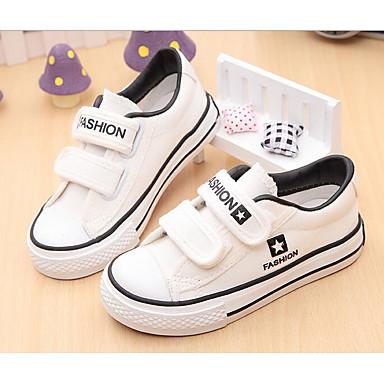 Hombre Zapatos Tela Elástica Primavera Confort Zapatillas de deporte Blanco / Negro aKyu0Zi4