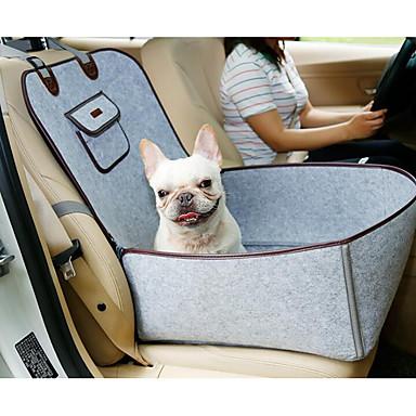 Γάτες Σκύλος Αυτοκίνητο Στρώμα Κάθισμα αναμνηστικών Pet Κατοικίδια Αντικείμενα μεταφοράς Φορητό Πτυσσόμενο Εύκολη εγκατάσταση Μονόχρωμο Γκρίζο Καφέ