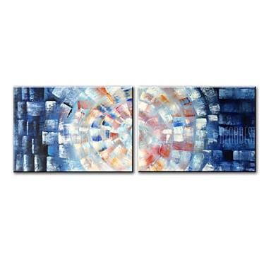 povoljno Ulja na platnu-Hang oslikana uljanim bojama Ručno oslikana - Sažetak Comtemporary Moderna Uključi Unutarnji okvir / Prošireni platno