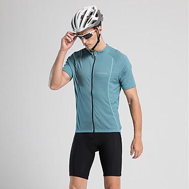 Jaggad Ανδρικά Κοντομάνικο Φανέλα ποδηλασίας Μπλε Ποδήλατο Αθλητική μπλούζα Ποδηλασία Βουνού Ποδηλασία Δρόμου Γρήγορο Στέγνωμα Αθλητισμός Ρούχα